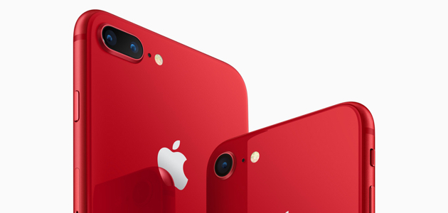 Apple представляет iPhone 8 и iPhone 8 Plus (PRODUCT)RED Special Edition
